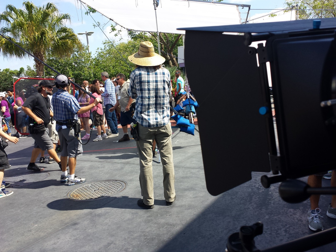 FILMING TELEVISION SHOW